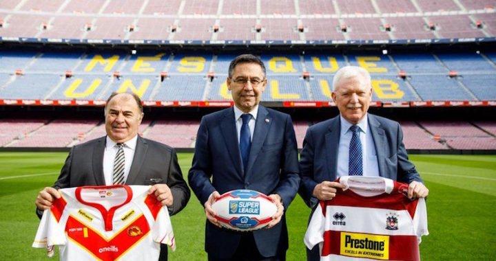 El Camp Nou acogerá un partido de la Super League de rugby a 13
