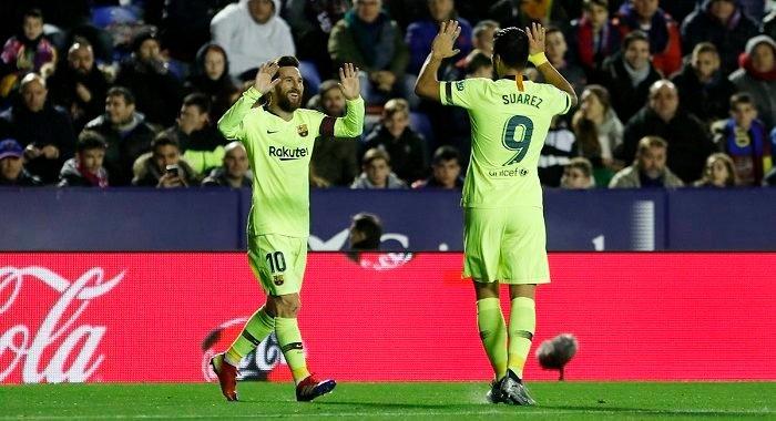 Un arrollador Leo Messi fusiló al Levante con hat-trick y llegó a 50 goles en 2018