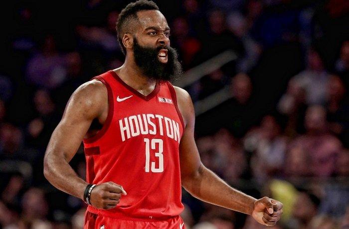James Harden anotó 61 puntos, logrando así un nuevo tope de carrera (Twitter Houston Rockets)