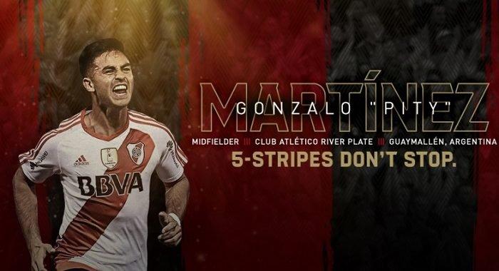 """Atlanta United da la bienvenida al """"Pity"""" Martínez"""