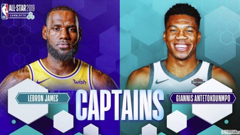 LeBron James y Giannis Antetokounmpo se medirán en el Juegos de Estrellas (Twitter @NBAAllStar)