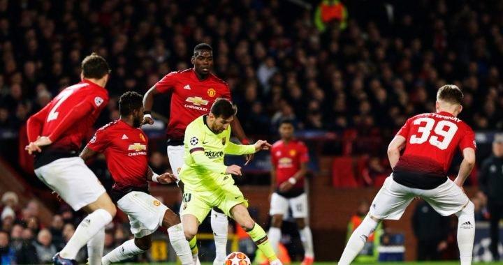 FC Barcelona tomó ventaja gracias a un autogol del Manchester United