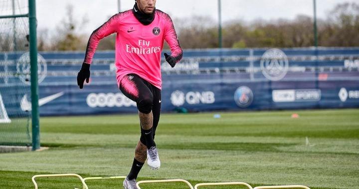 Neymar volvió a entrenar luego de su operación en el pie derecho