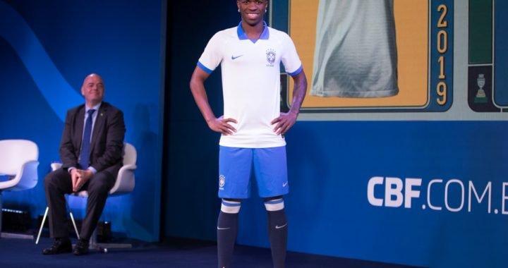 Vinicius Jr. presentó la camiseta de Brasil para la Copa América 2019