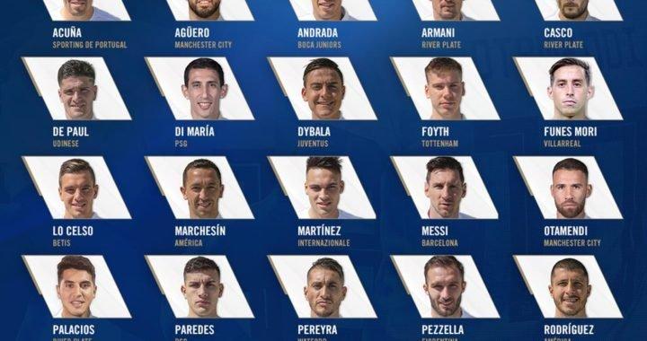 Conoce los 23 convocados por Argentina para la Copa América Brasil 2019