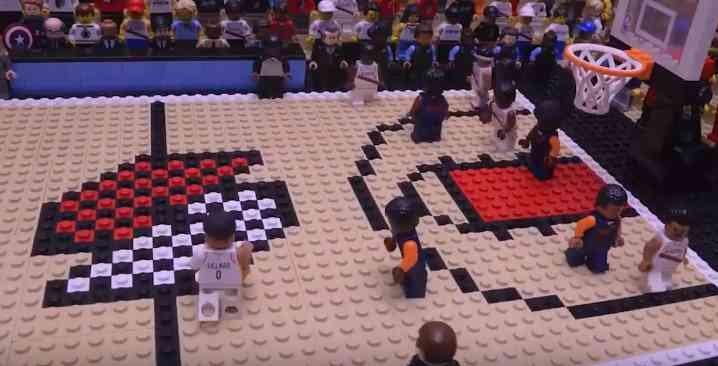 El video en stop-motion hecho con Legos y dedicado a la jugada de Lillard (YouTube)
