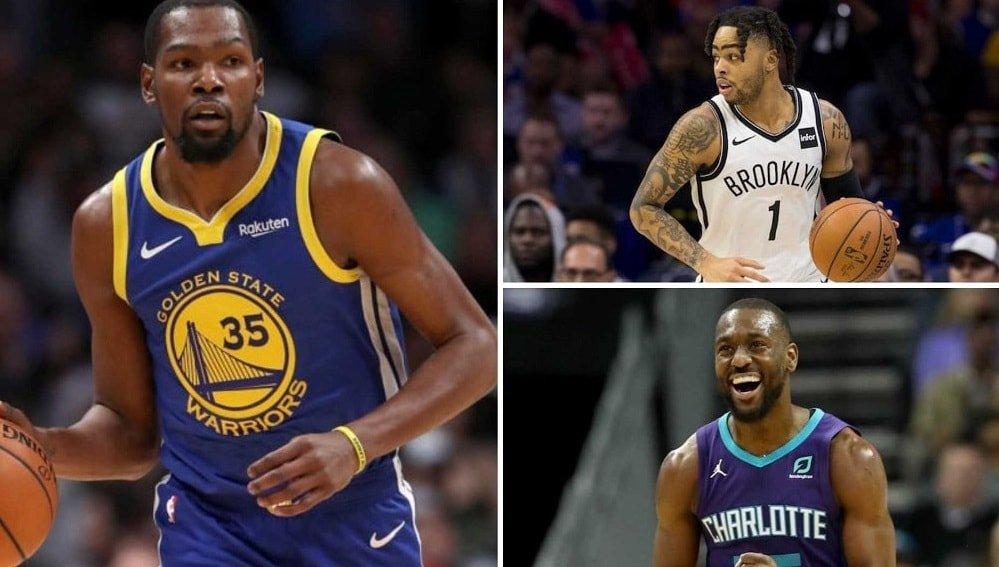Kevin Durant, D'Angelo Russell, Kemba Walker y Kyrie Irving, entre otros, ya tienen nuevo equipo