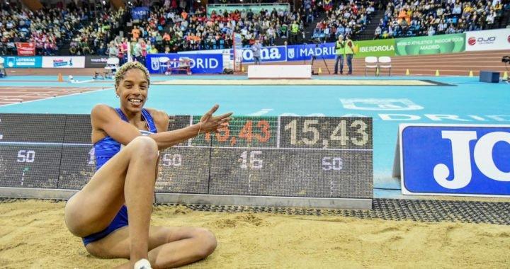 Yulimar Rojas voló en Madrid y logró récord mundial en salto triple indoor