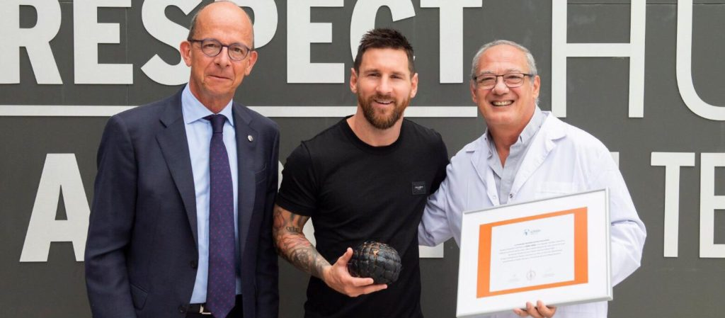 Lionel Messi se mantiene en cuarentena en su casa en Barcelona (@FundaciónMessi)