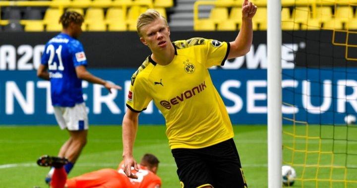 Erling Haaland marcó el primer gol en el regreso de la Bundesliga