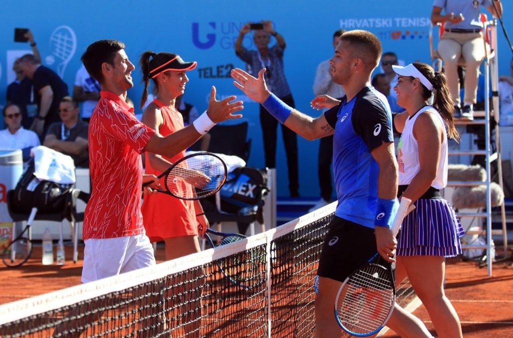 Djokovic durante la segunda parada del Adria Tour (Foto: Adria Tour Facebook)