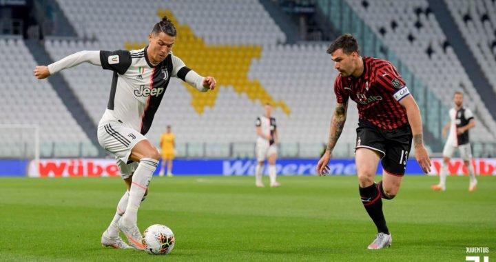 Juventus empata con el AC Milan en la vuelta del fútbol en Italia
