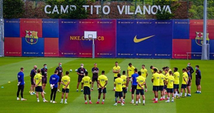 FC Barcelona volvió a entrenar con el grupo completo